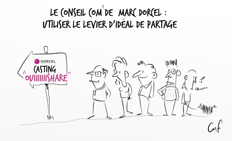 Dessin en direct - Intervention de Marc Dorcel sur la com 2.0- Syntec